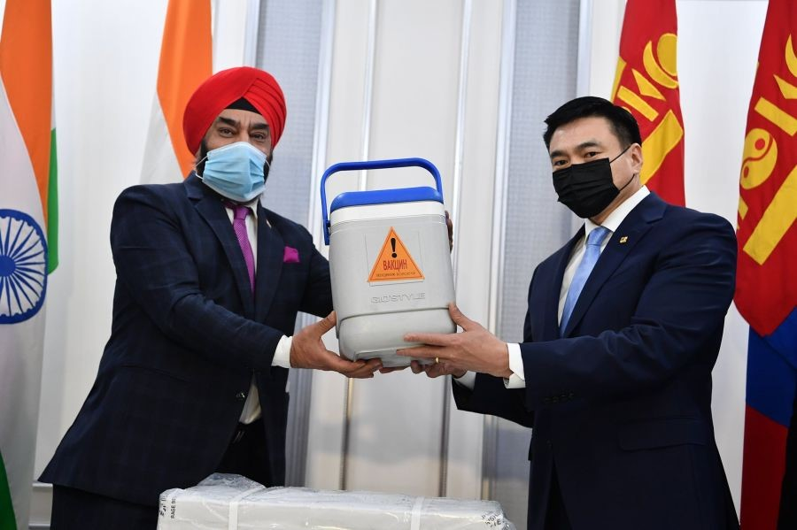 Mongolia receives first COVID vaccine from India