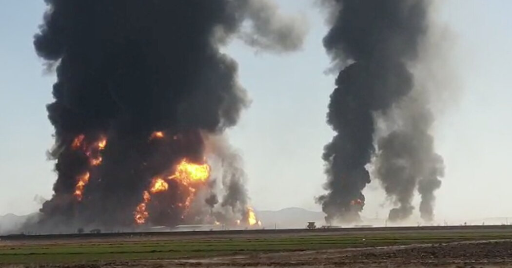 Fuel Tanker Explodes in Afghanistan, Causing Big Fire
